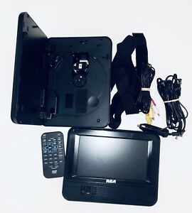 """RCA Mobile DVD System With Dual 7"""" Screens DRC69705E With Remote Control Tested"""