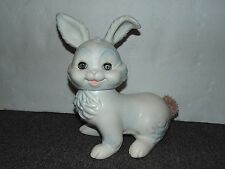 1961 Arrow Edward Mobley Rabbit Rubber Squeaker Toy Moving Eyes