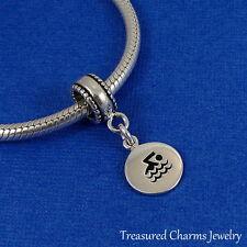 925 Sterling Silver Swimming Swimmer Dangle Bead Charm - fits European Bracelets