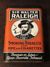 * Beautiful * Vintage Sir Walter Raleigh Pocket Tobacco Tin