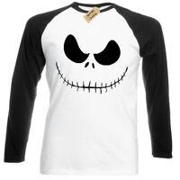 Jack Skellington T-Shirt mens long sleeve baseball Nightmare Christmas burton