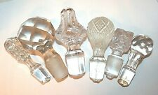 Mixed EAPG Stopper Lot of 6 Glass Patterned Faceted Clear