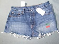 4th of July SHORTS Size 31 11, 12  large blue red denim sexy pole Cherry pop New