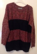 Ladies sz14 M&S Woman Stunning Navy Mix Jumper with Mohair BNWT