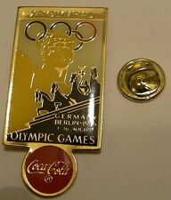 Pins coca cola BERLIN 1936 XIth OLYMPIAD Olympics Games JO Jeux Olympiques