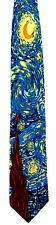 Vincent Van Gogh Men's Neck Tie Art Starry Night Dutch Painter Blue Necktie