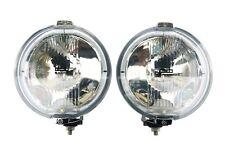 2x Fernscheinwerfer RUND  LED RING H3  12V  CHROM  Halogenscheinwerfer FRONT