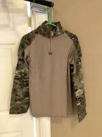 Multicam Combat Shirt MEDIUM 1/4 Zippered Uniform US Army Military BDU Camo NEW