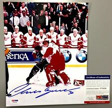CHRIS OSGOOD VS PATRICK ROY SIGNED 8X10 FIGHT PHOTO DETROIT RED WINGS PSA COA