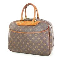 Authentic LOUIS VUITTON Deauville Monogram Handbag Purse #34868