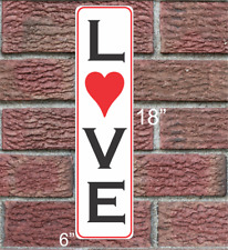 LOVE with Heart Metal Sign