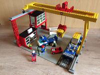 Lego 4555 Container Verladestation 9V Eisenbahn Freight Loading Station komplett