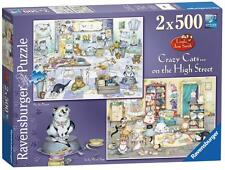 Ravensburger 14079 2 x 500 Piece Crazy Cats On The High Street Jigsaw Puzzle New