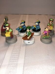 1990 Wendys - Yogi Bear and Friends - GLIDERS - Lot Of 7