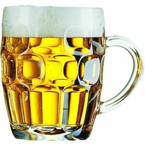 Britannia Dimpled Glass Tankard Pint 20oz For Beer, High Quality Strong