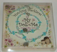"""My Doll n Me Matching Necklaces Teal Soccer Ball Set 12"""" Girl New Dress Alike"""