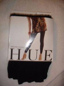 HUE 1 Pair of   Sweater Black Leggings S/M NWT