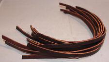 "Lace Leather - 1/4"" x 12"" - Burgundy Latigo - pack of 12 (F93)"
