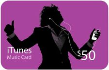 $50 iTunes Gift Card/Voucher/Certificate US Store FAST SHIPPING