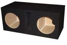 """12"""" inch BLACK Dual Subwoofer Speaker Box Enclosure Vented Labyrinth Obcon"""
