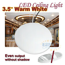 "LED 12V 3.5"" Ceiling Dome Light RV Caravan Trailer Boat Yacht Indoor Lighting WW"