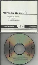 NORMAN BROWN Night Drive w/ RARE EDIT RADIO  PROMO DJ CD single