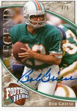 2009 UD Football Heroes Bob Griese Legendary Heroes Autograph #4 of 5 On Card