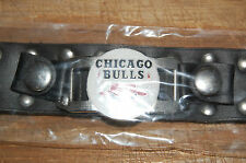 "Chicago Bulls  Logo Leather Studded 9 1/2"" Bracelet New in packaging Basketball"