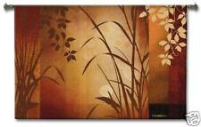 Flaxen Silouette Contemporary Botanical Wall Tapestry