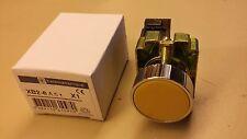 Bouton poussoir Telemecanique couleur jaune BX2 BA51 neuf + contact NO