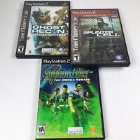 PS2 Playstation Shooter Games Lot Of 3 Splinter Cell Ghost Recon Syphon Filter.