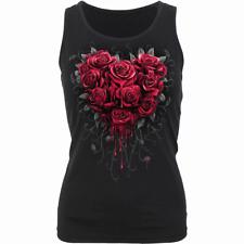 Spiral Direct BLEEDING HEART RAZOR BACK/Red Roses/Goth/Tattoo/Rose /Top/New