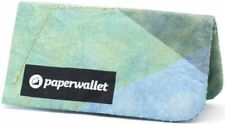 Paper Wallet Mens Coin Pouch Wallet - Green/Yellow/Blue
