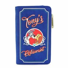 Loungefly Disney The Lady and the Tramp Tonys Dogs Menu Clutch Wallet WDWA1163