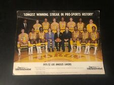 1971-72 LOS ANGELES LAKERS NBA WORLD CHAMPIONS 8x10 TEAM PHOTO ORIGINAL