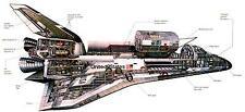 "Space Shuttle Cutaway Nasa Poster 16""x24"""