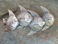 4 Fishes Silver Plated French Clip Hair Barrette 80mm Clip made in USA 6049S New