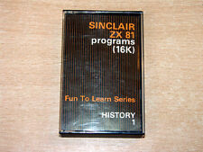Sinclair ZX81 - Fun To Learn : History 1 by ICL