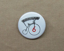 """The Prisoner Number 6 Bicycle Button 1.25"""" Penny Farthing Village Badge Pin #Six"""