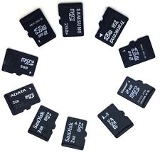 10 x 2GB Mix Brand Micro SD Memory Cards with Samsung SD Adapters