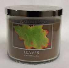 1 Bath & Body Works Slatkin & Co. LEAVES 3-Wick 14.5 oz Scented Candle