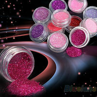12 Colors Nail Art Decoration Powder Glitter Set for UV Gel Acrylic Tips Finest