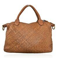 BZNA Bag Bianca Cognac Italy Designer Damen Handtasche Schultertasche Tasche