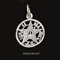 COLGANTE TETRAGRAMATON de PLATA de 1ª LEY 925 1,5 cm + anilla y Estuche