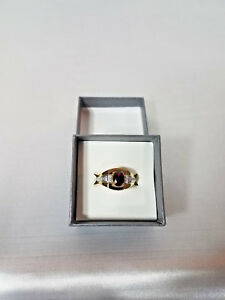 MEN'S OVAL CUT GARNET RING
