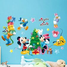 Mickey & Minnie Christmas Theme Wall Decal 3D Reusable Large Stickers