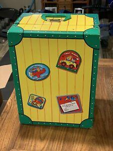 "Vintage 1984 Tara Toy Big Doll Case Suitcase Steamer Trunk No. 11500 17"" x 12.5"""