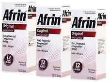 Afrin Original Nasal Spray - 3 Bottles of 1 Fl oz Each