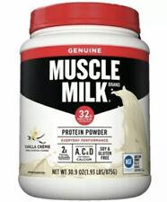 Muscle Milk Brand Protein Powder - 32 G Vanilla Protein - 30.9 Oz - Exp 07/21