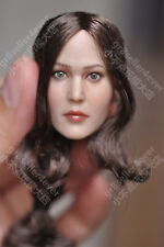 """Custom 1/6 Jennifer Lawrence Head Sculpt The Hunger Games for 12"""" hot toy Phicen"""